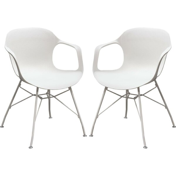 Carin Plastic Stacking Patio Dining Chair (Set of 2) by Orren Ellis