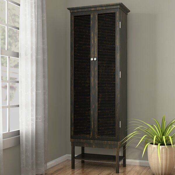 Ouellet Louvered Door 3 Drawer 2 Door Accent Cabinet by August Grove