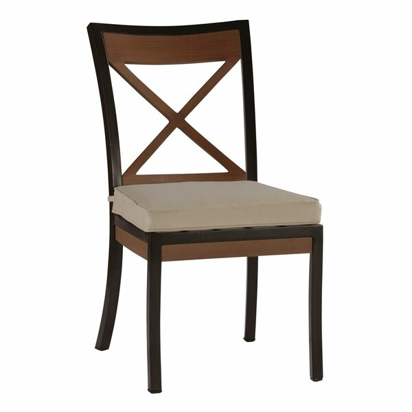 Belize Patio Dining Chair with Cushion (Set of 2) by Summer Classics