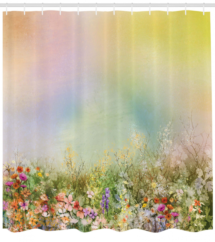 Spring Dandelion Field Bathroom Hooks 100/% Polyester Fabric Shower Curtain Sets