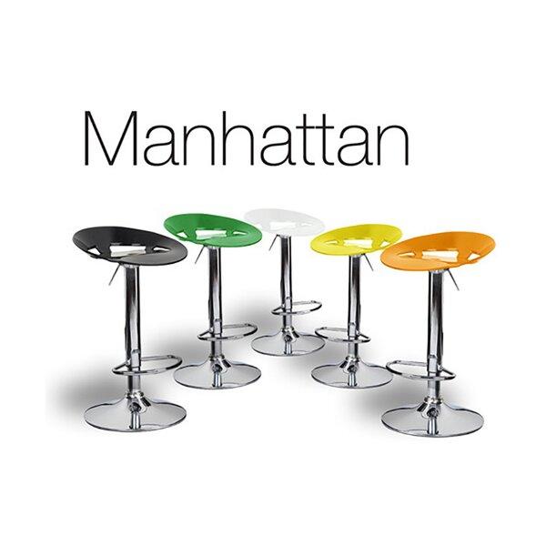 Manhattan Adjustable Height Swivel Bar Stool (Set of 2) by Vandue Corporation