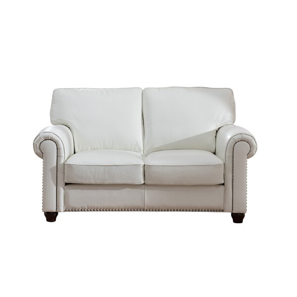 Best Of The Day Tawanda Craft Leather Loveseat by Three Posts by Three Posts