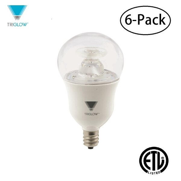 40W Equivalent E12 LED Standard Light Bulb (Set of 6) by TriGlow