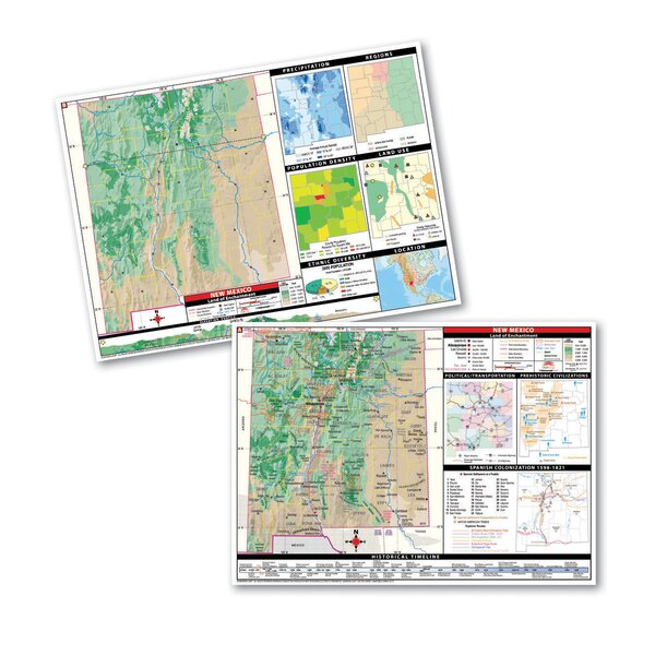 Thematic Deskpad Class Set - New Mexico by Universal Map