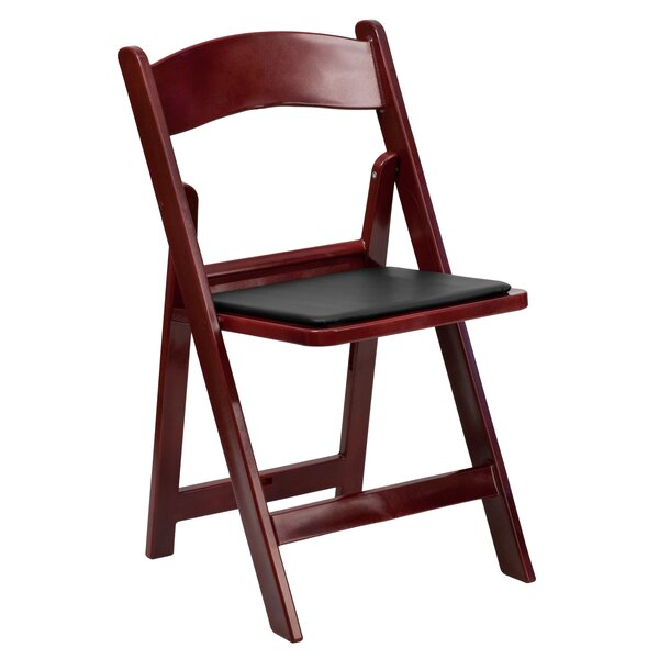 Resin Folding Chair with Vinyl Padded Seat (Set of 4) by Flash Furniture