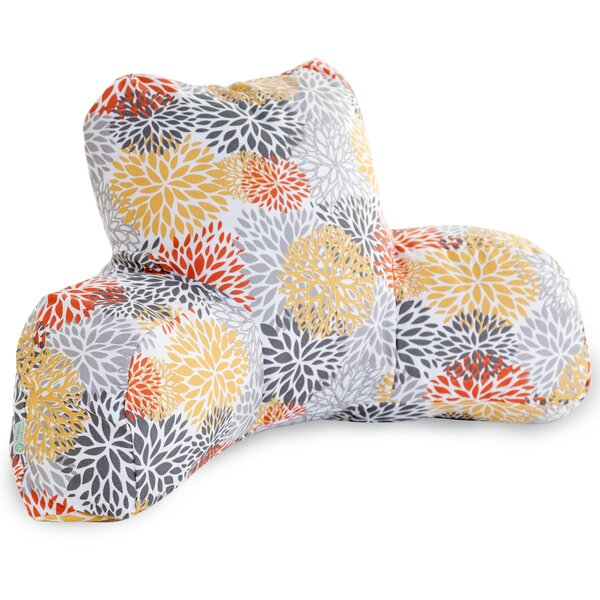 Blooms Indoor/Outdoor Bed Rest Pillow by Majestic Home Goods