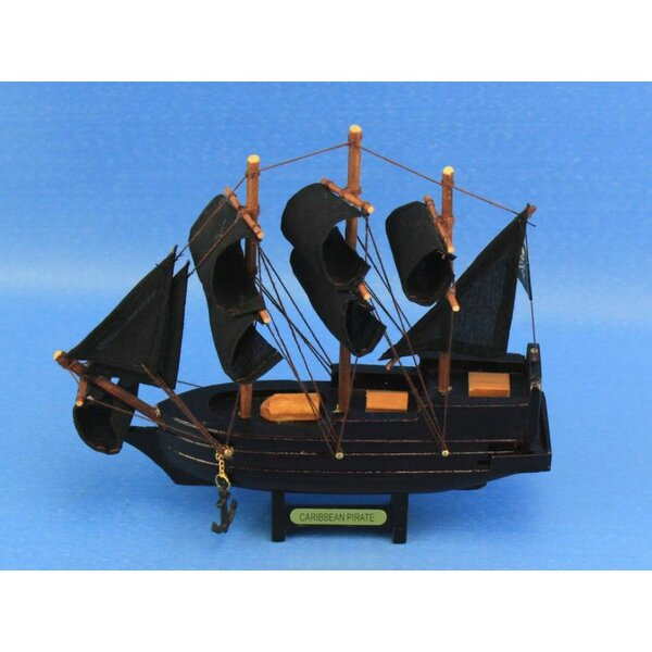 Caribbean Pirate Model Ship by Handcrafted Nautical Decor