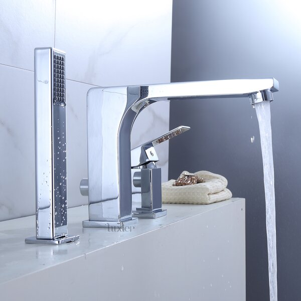 Single Handle Deck Mounted Roman Tub Faucet by Luxier