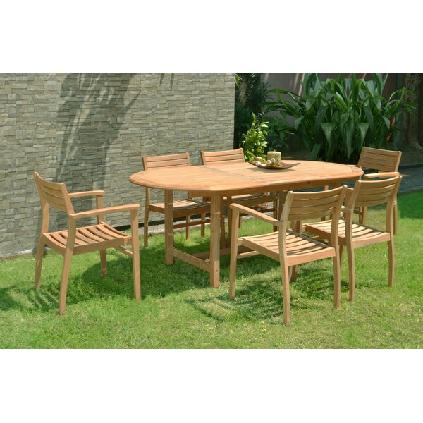 Tarun 7 Piece Teak Dining Set by Bayou Breeze