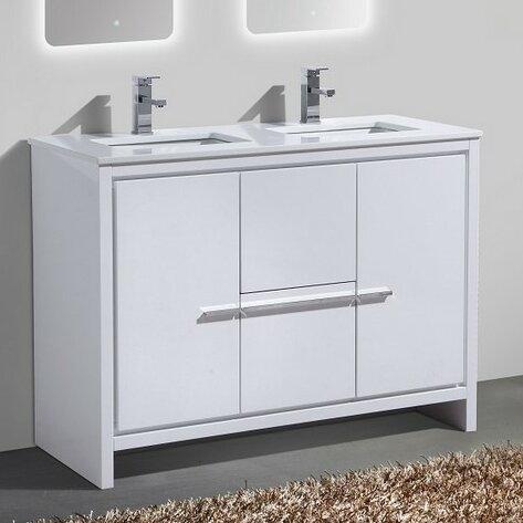 double sink bathroom vanity. Bosley 48  Double Sink Modern Bathroom Vanity Vanities You ll Love Wayfair