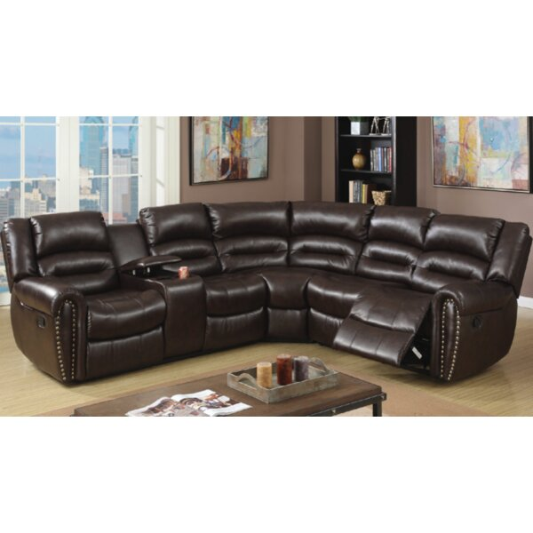 Stayton 3 Piece Leather Reclining Sectional Set by Red Barrel Studio