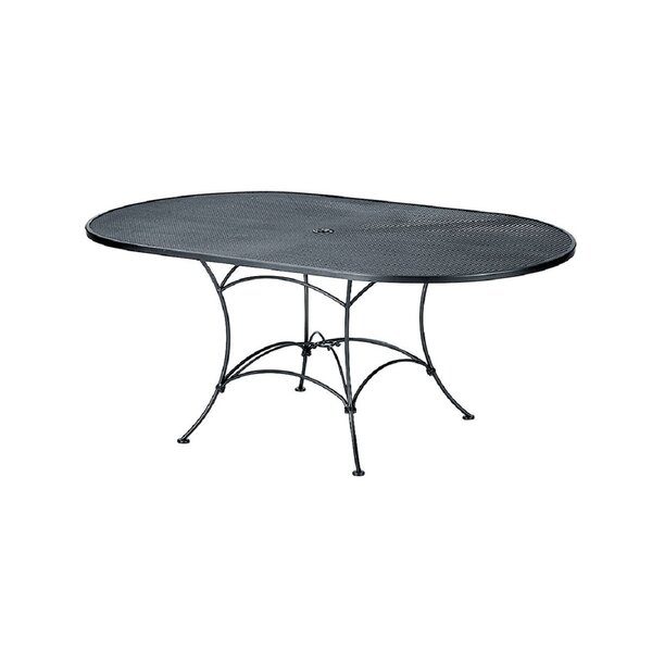 Briarwood Mesh Metal Dining Table by Woodard