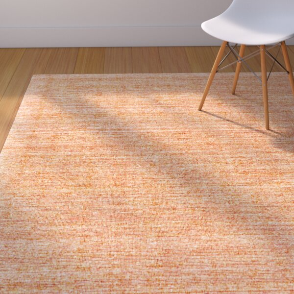 Chemung Hand-Woven Tangerine Area Rug by George Oliver