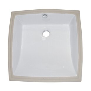 Best Reviews Cove Ceramic Square Undermount Bathroom Sink with Overflow By Kingston Brass