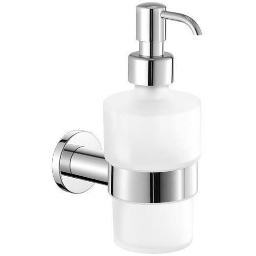 Sonnenberg Wall Frosted Glass Soap & Lotion Dispenser by Orren Ellis