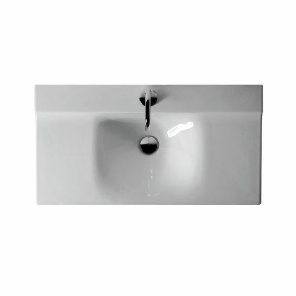 Buddy Ceramic 32 Wall Mount Bathroom Sink with Overflow by WS Bath Collections