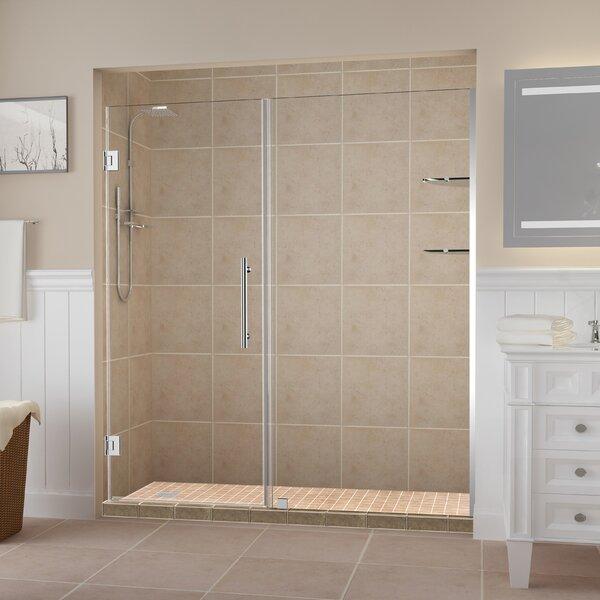 Belmore GS 73.25 x 72 Hinged Frameless Shower Door by Aston