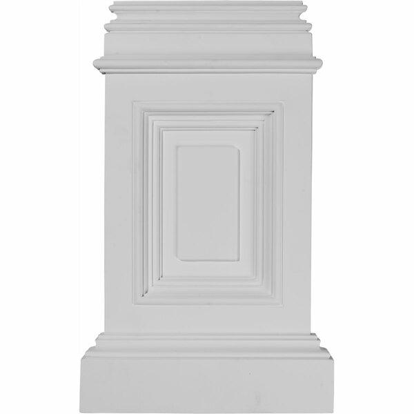 Classic 17 3/4H x 10 7/8W x 2 1/4D Small Pedestal Base by Ekena Millwork