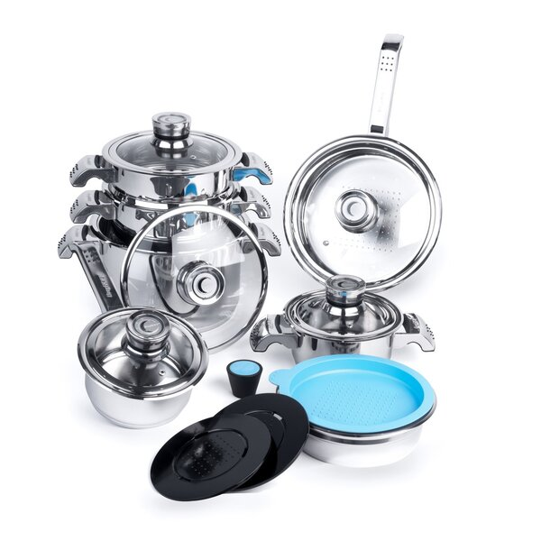 Invico Vitrum 16-Piece Cookware Set by BergHOFF International