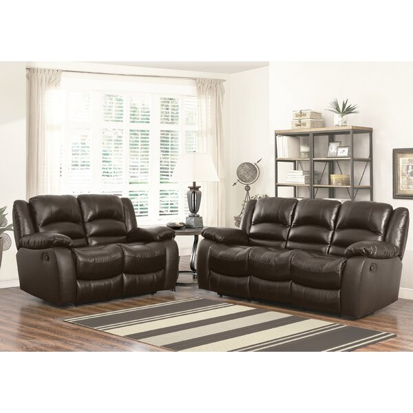 Jorgensen 2 Piece Leather Reclining Living Room Set by Darby Home Co
