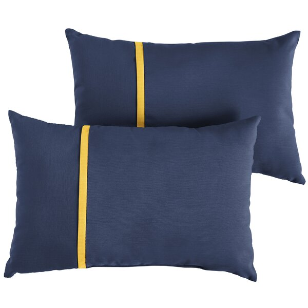 Angus Indoor/Outdoor Lumbar Pillow (Set of 2) by Longshore Tides