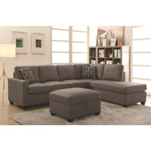 Top Koumarianos Reversible Sectional With Ottoman By Red Barrel Studio