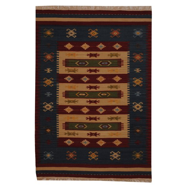Hand-Woven Ivory/ Red Indoor Area Rug by Herat Oriental