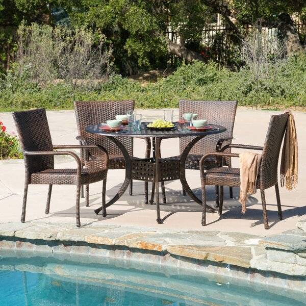 Ullery 5 Piece Dining Set by Highland Dunes