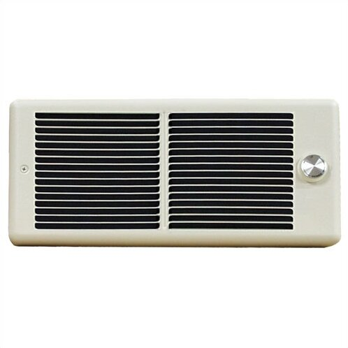 Register Wall Insert Electric Fan Heater with Wall Box and Single Pole Thermostat by TPI