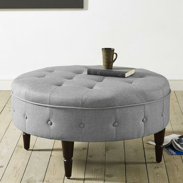Titusville Tufted Cocktail Ottoman by Alcott Hill