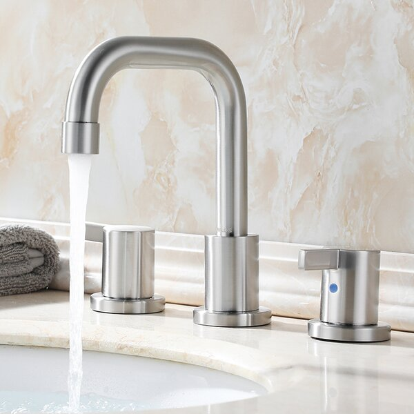 Widespread Bathroom Faucet With Drain Assembly by Parlos Home Parlos Home