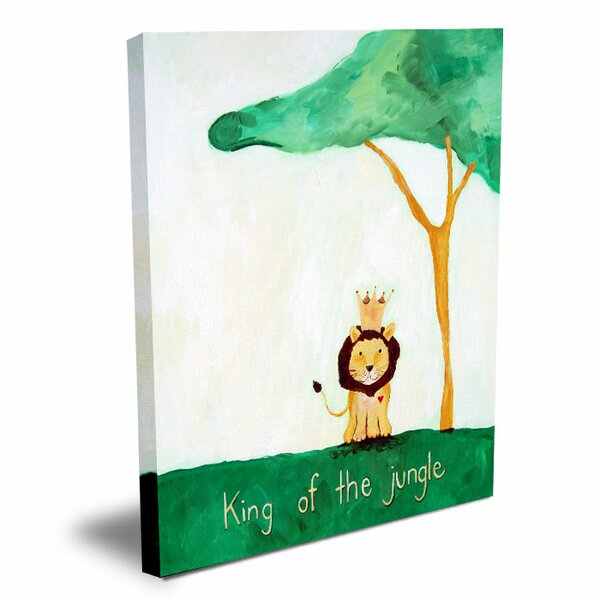 Words of Wisdom King of The Jungle Canvas Art by Cici Art Factory
