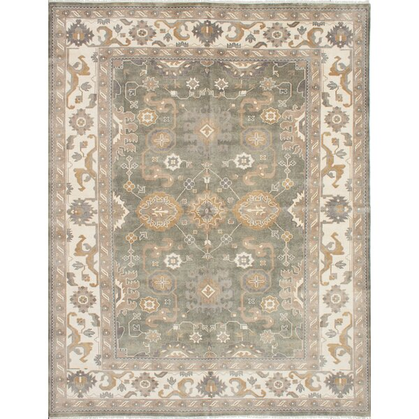 One-of-a-Kind Doggett Hand Knotted Wool Dark Gray Area Rug by Isabelline