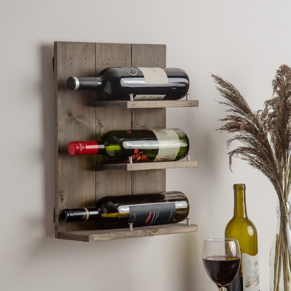 Conte 3 Bottle Wall Mounted Wine Rack by Union Rustic