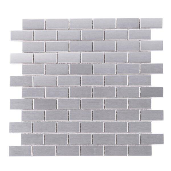 Iron Man Brick Metal Mosaic Tile in Gray by Multile