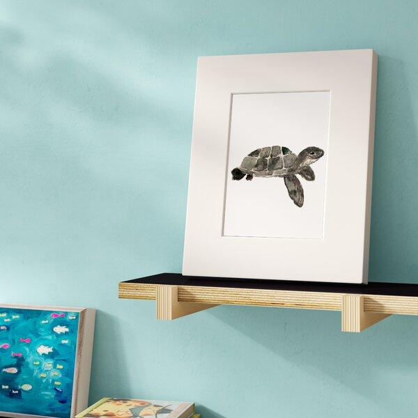 Woodruff Watercolor Turtle Framed Paper Print by Harriet Bee
