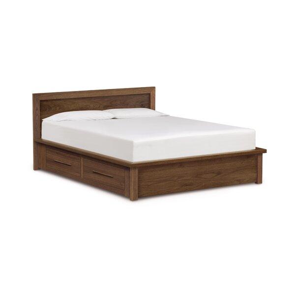 Moduluxe Veneer Headboard Storage Platform Bed by Copeland Furniture