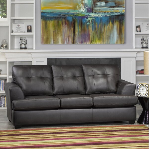 Great Sale Cowhill Leather Sofa by Orren Ellis by Orren Ellis