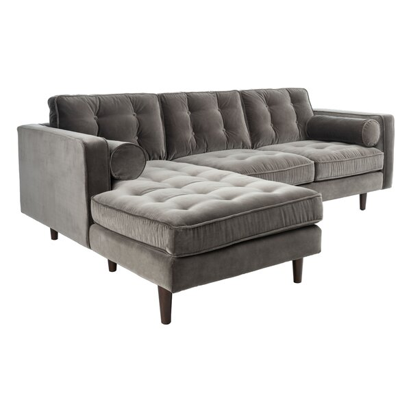 Sicilliano Pepper Left Hand Facing Sectional By Everly Quinn