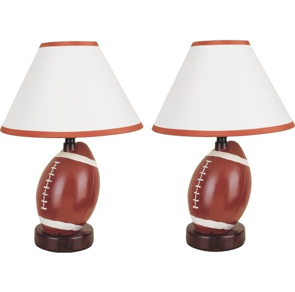 Christian Football 20 Table Lamp (Set of 2) by Zoomie Kids