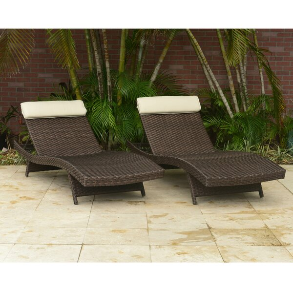 Hazle Sun Lounger Set with Cushions (Set of 2) by Beachcrest Home Beachcrest Home