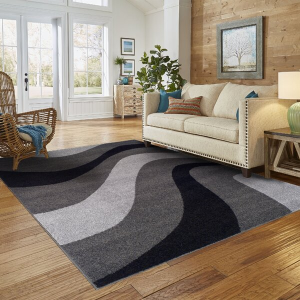 New Wave Gray Area Rug by Simple Luxury