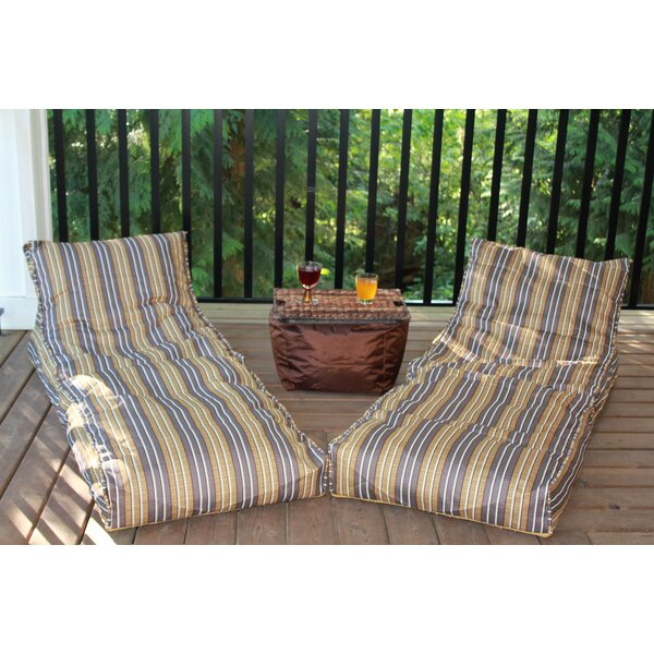 Small Outdoor Friendly Bean Bag Chair & Lounger By Red Barrel Studio