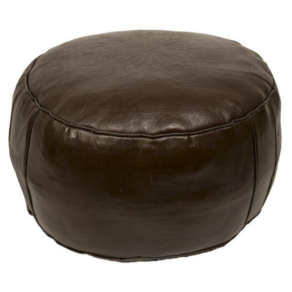 Hamerton Leather Pouf by World Menagerie
