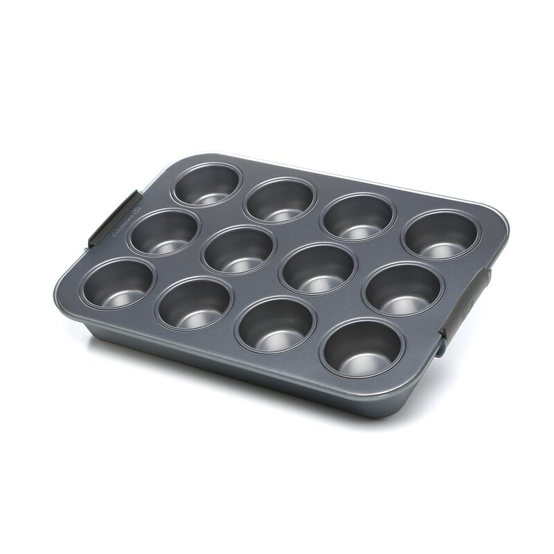 Nonstick 12-Cup Covered Cupcake Pan