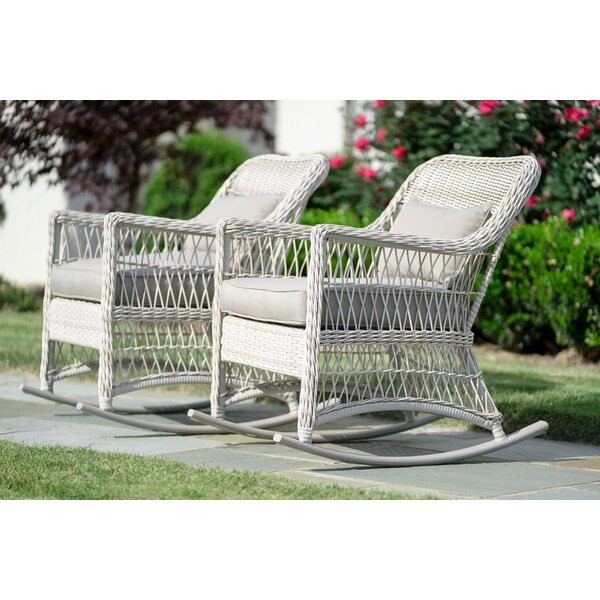 Chretien Pair Rocking Chair (Set of 2) by Rosecliff Heights