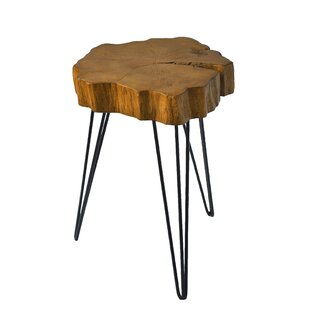 Top Buzzard Rustic Crosscut Tree End Table By Ivy Bronx