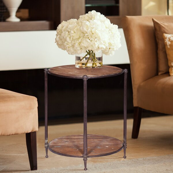 Malakoff Round End Table by Fleur De Lis Living
