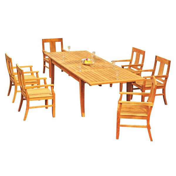 Lamartine 7 Piece Teak Dining Set by Rosecliff Heights