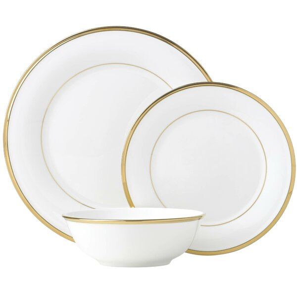 Murray Hill Bone China 3 Piece Bone China Place Setting, Service for 1 by Lenox
